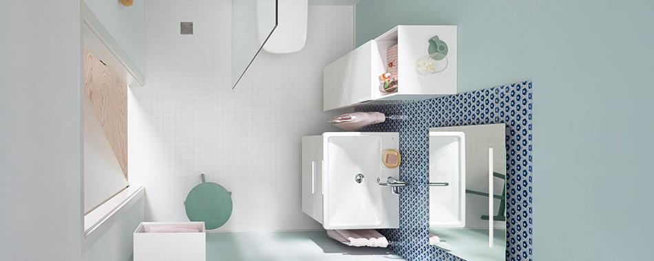 Des meubles et accessoires pour les petites salles de bain | Burgbad