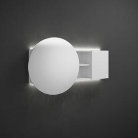 1 Element Fonctionnel Avec Prise Miroir Grossissant 2 Interrupteurs En Bas Etageres Etagere Fixe Separations Centrales Retro Eclairage LED Du Mur